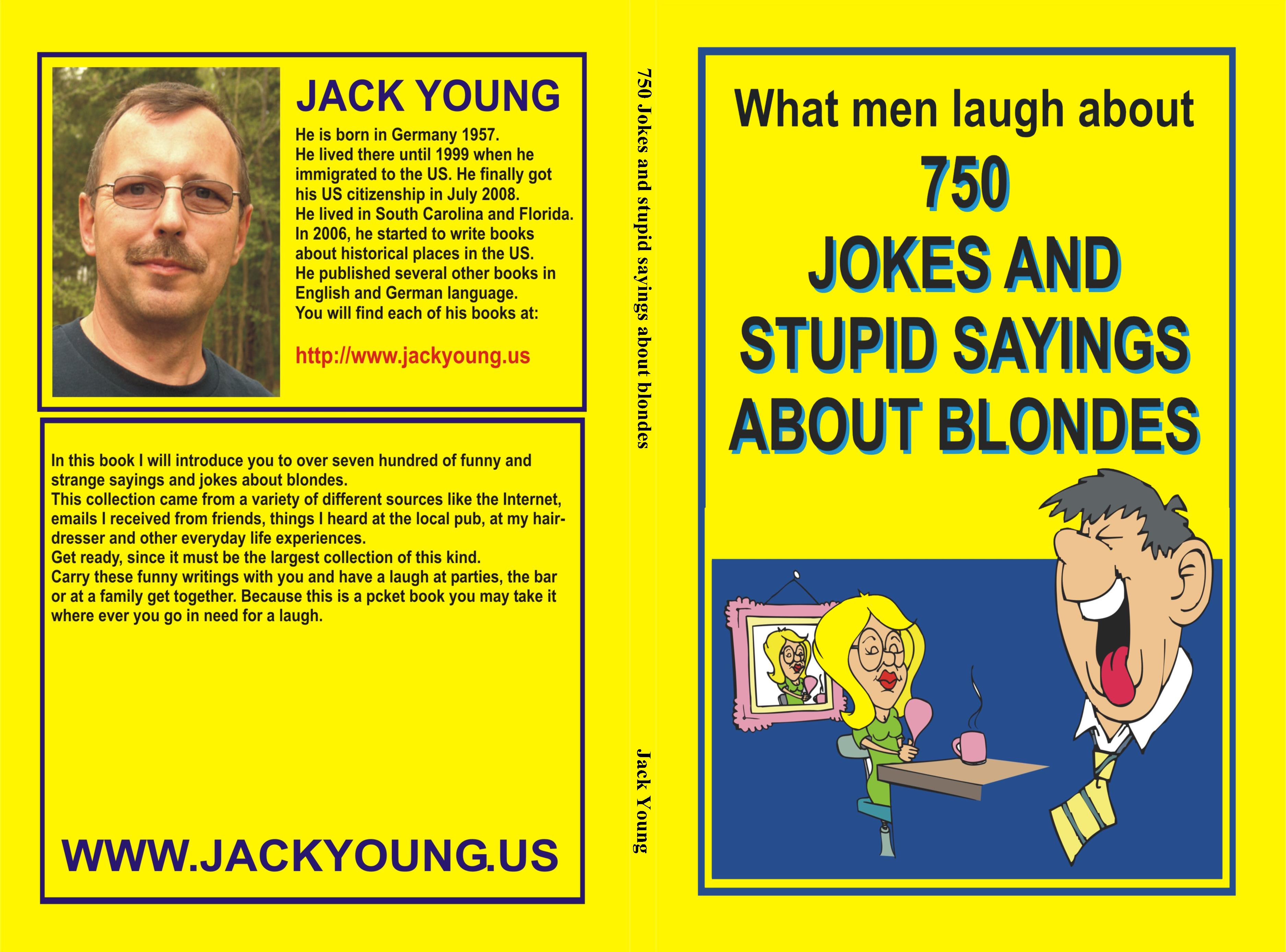 750 Jokes and stupid sayings about blondes cover image