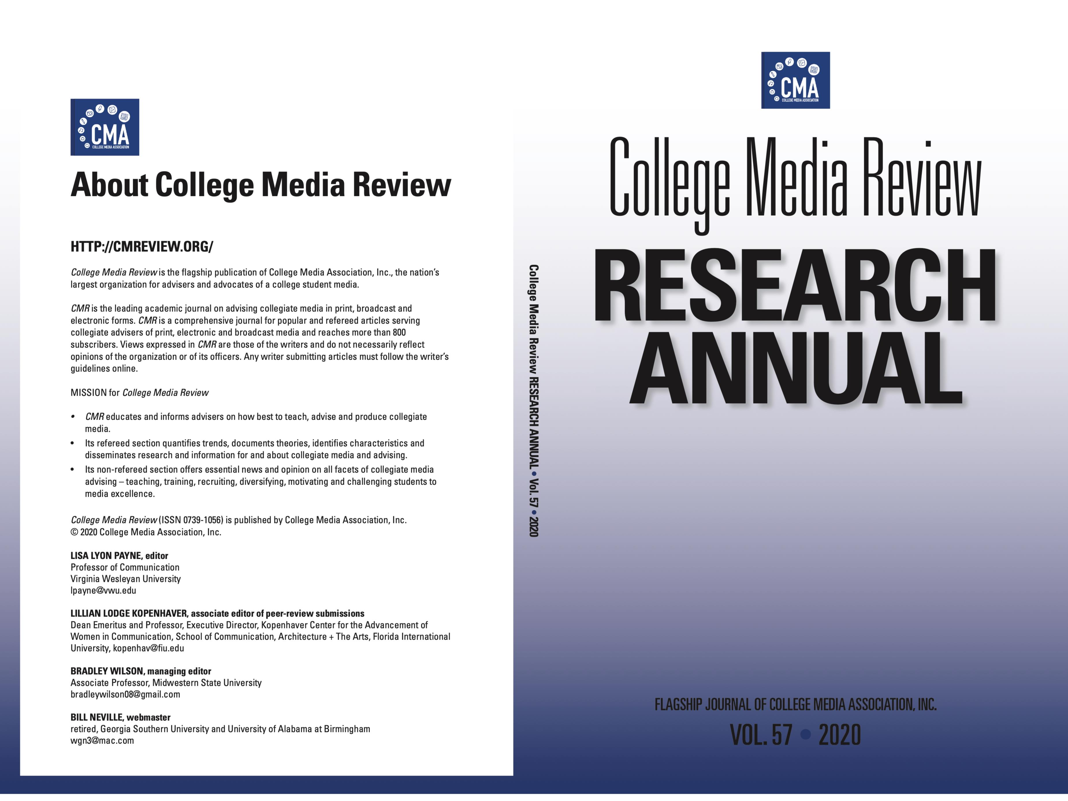 College Media Review Research Annual 2020 cover image