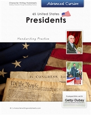 44 United States Presidents - Getty-Dubay, Advanced Cursive cover image