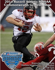 2014 Russell Athletic/KHSAA Commonwealth Gridiron Bowl Program cover image