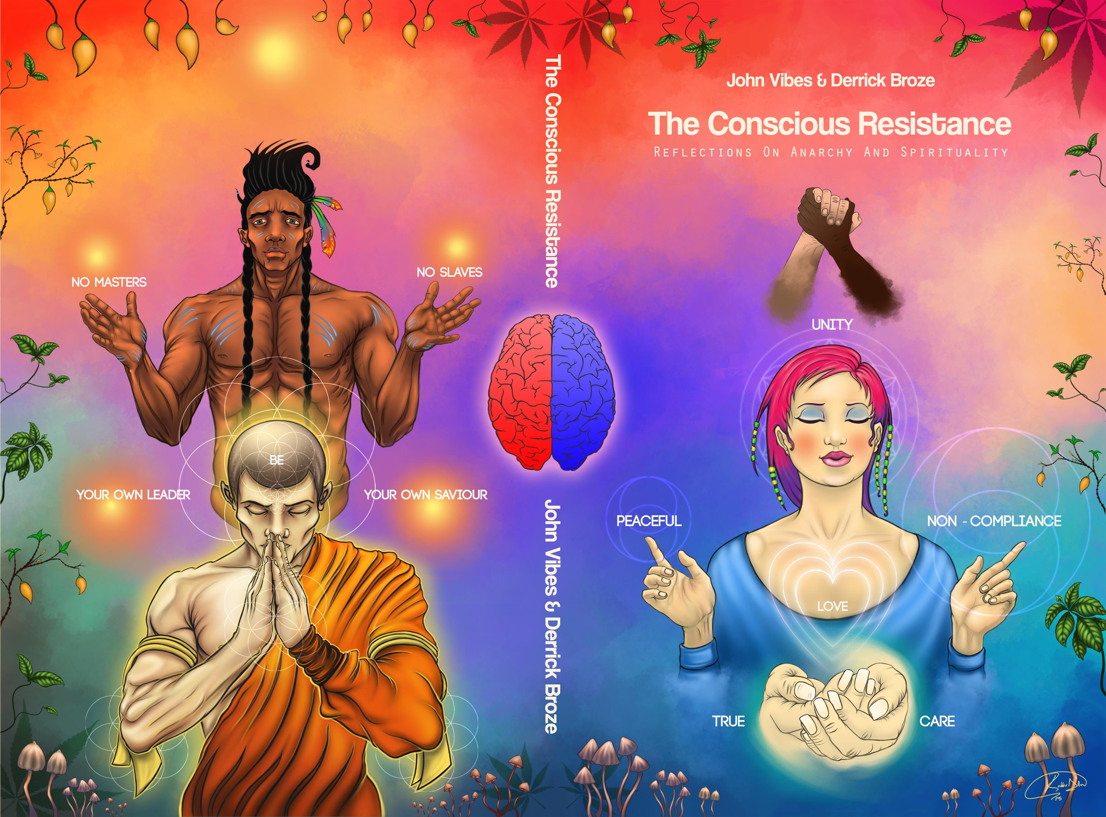 The Conscious Resistance: Reflections on Anarchy & Spirituality (Healing Cover) cover image