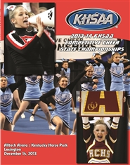 2013-14 KHSAA Competitive Cheer Championship Program cover image