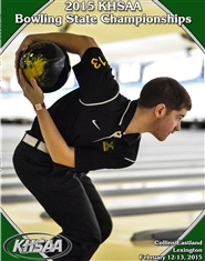 2015 KHSAA Bowling State Championship Program cover image