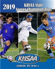 2019 KHSAA Soccer State Championship Program cover image