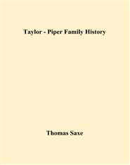 Taylor - Piper Family History cover image