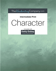Character Getty-Dubay - Intermediate Print cover image
