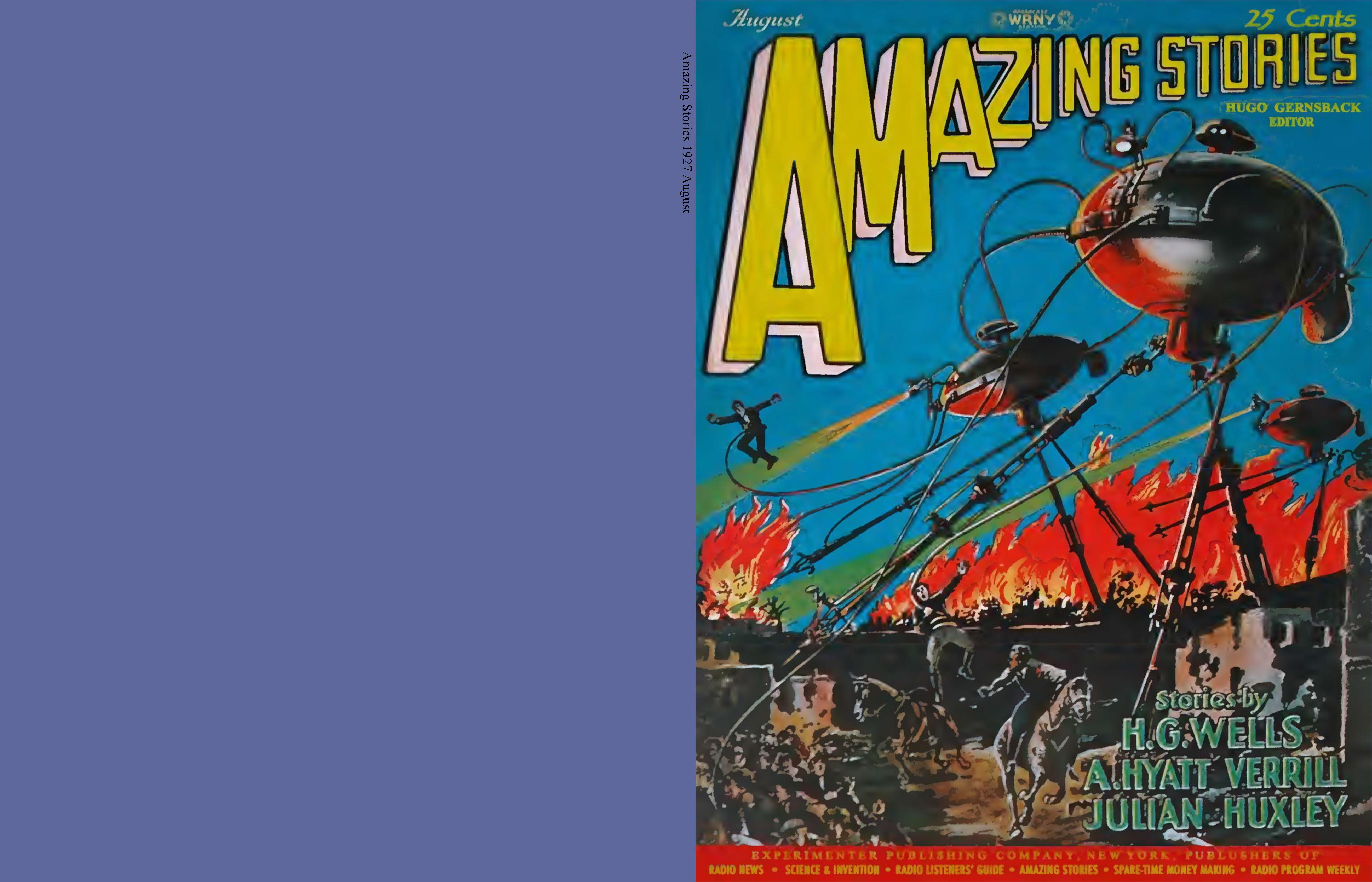Amazing Stories 1927 August cover image