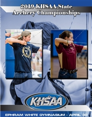 2019 KHSAA Archery State Championship Program cover image