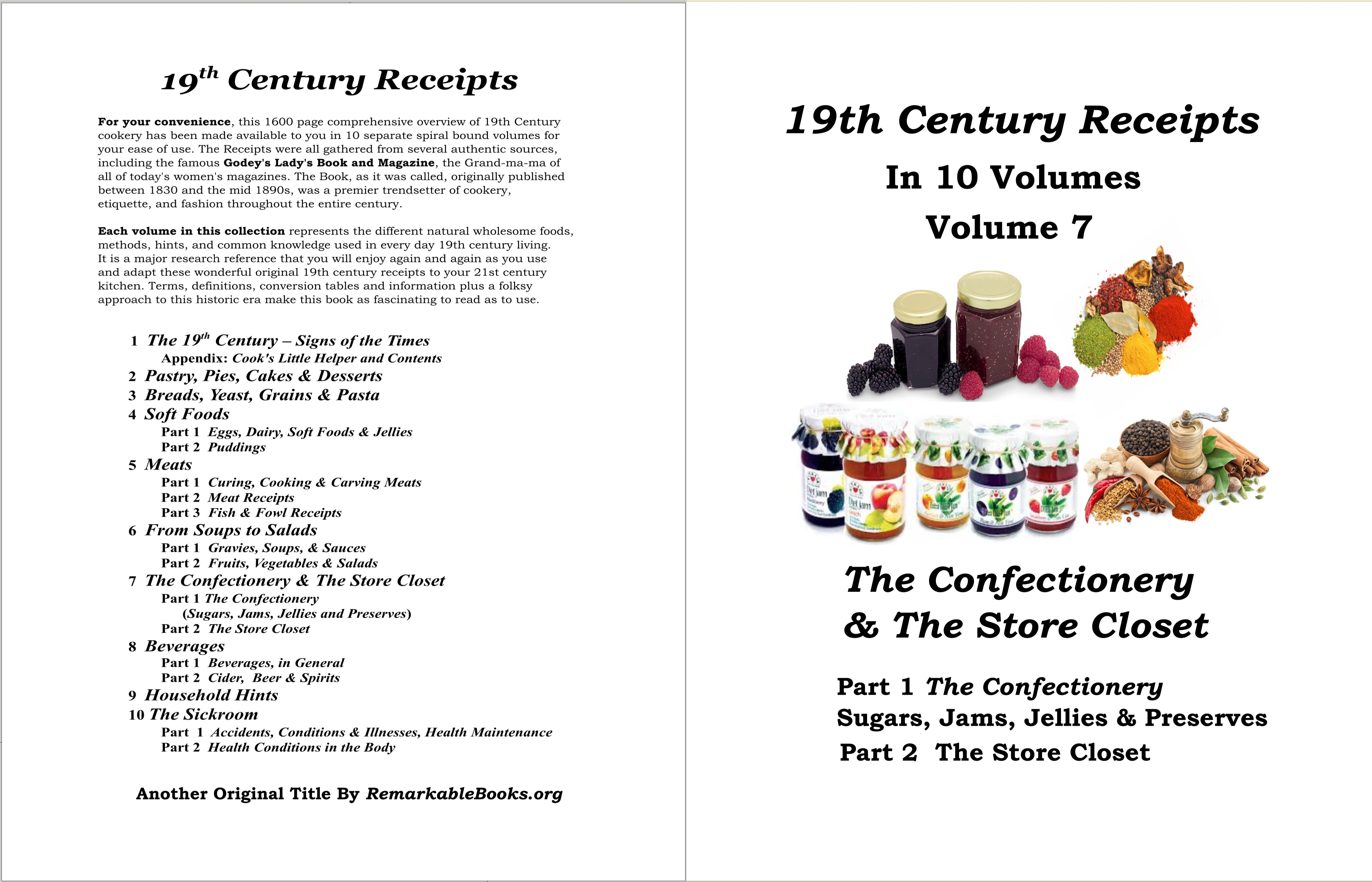 19th Century Receipts Volume 7 cover image