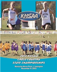 2013 KHSAA Cross Country State Championship Program cover image