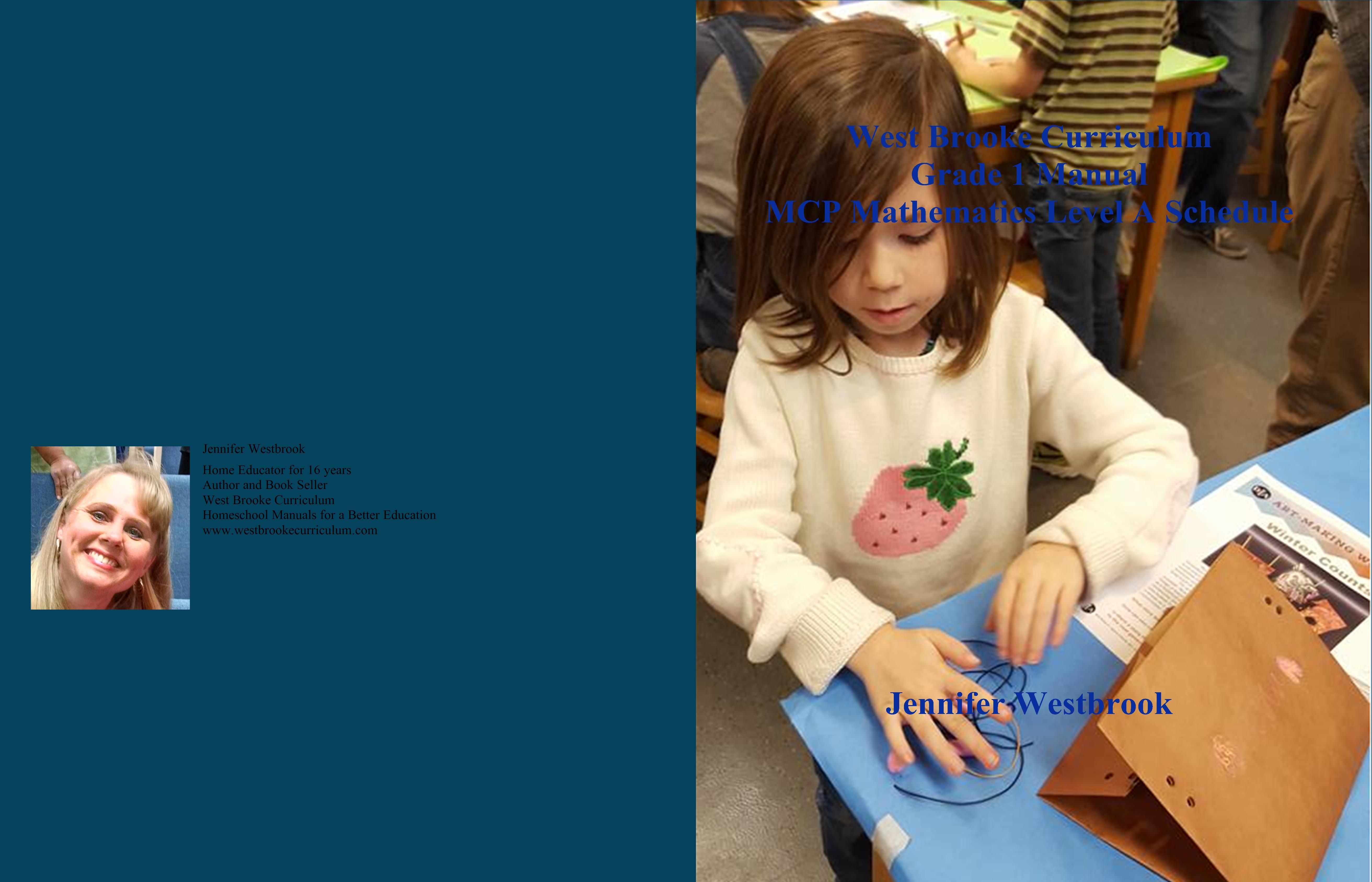 West Brooke Curriculum Grade 1 Manual MCP Mathematics Level A Schedule cover image