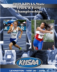 2019 KHSAA Track & Field State Meet Program (B&W) cover image