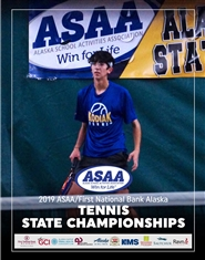 2019 ASAA/First National Bank Alaska Tennis State Championships Program cover image