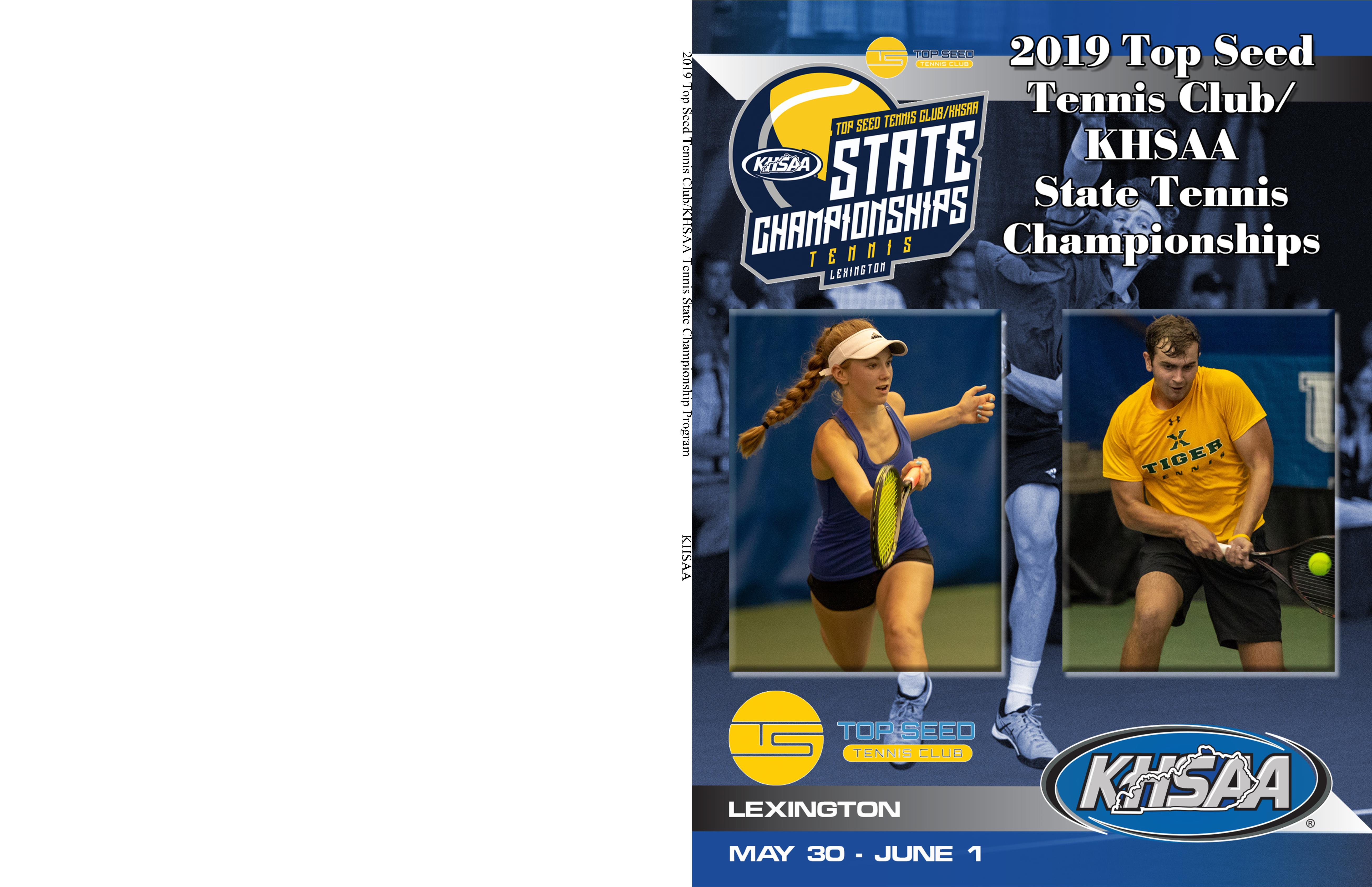 2019 Top Seed Tennis Club/KHSAA Tennis State Championship Program cover image