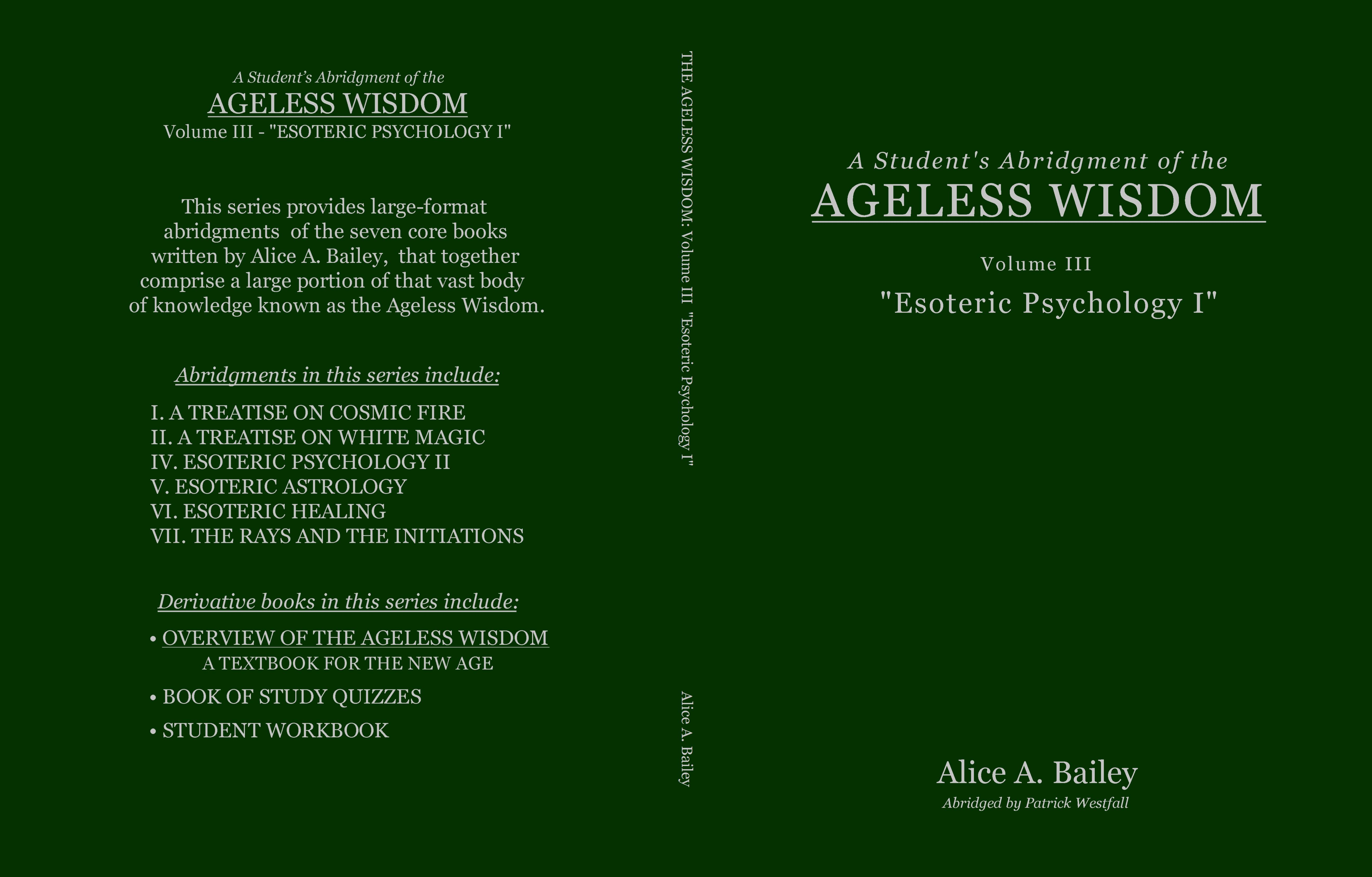 A Student's Abridgment of the Ageless Wisdom: Volume III