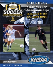 2018 KHSAA Soccer State Championship Program (B&W) cover image