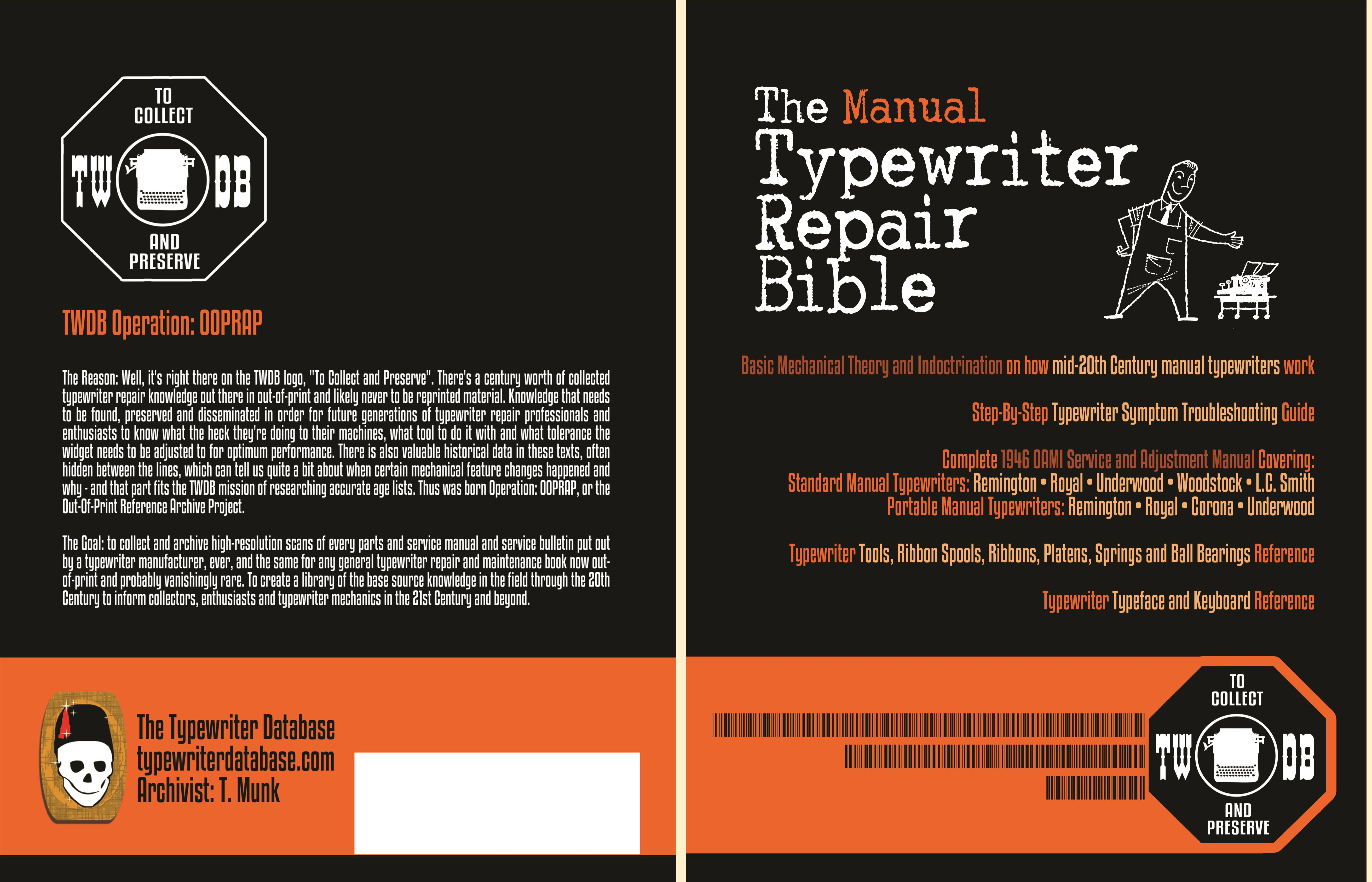 The Manual Typewriter Repair Bible cover image