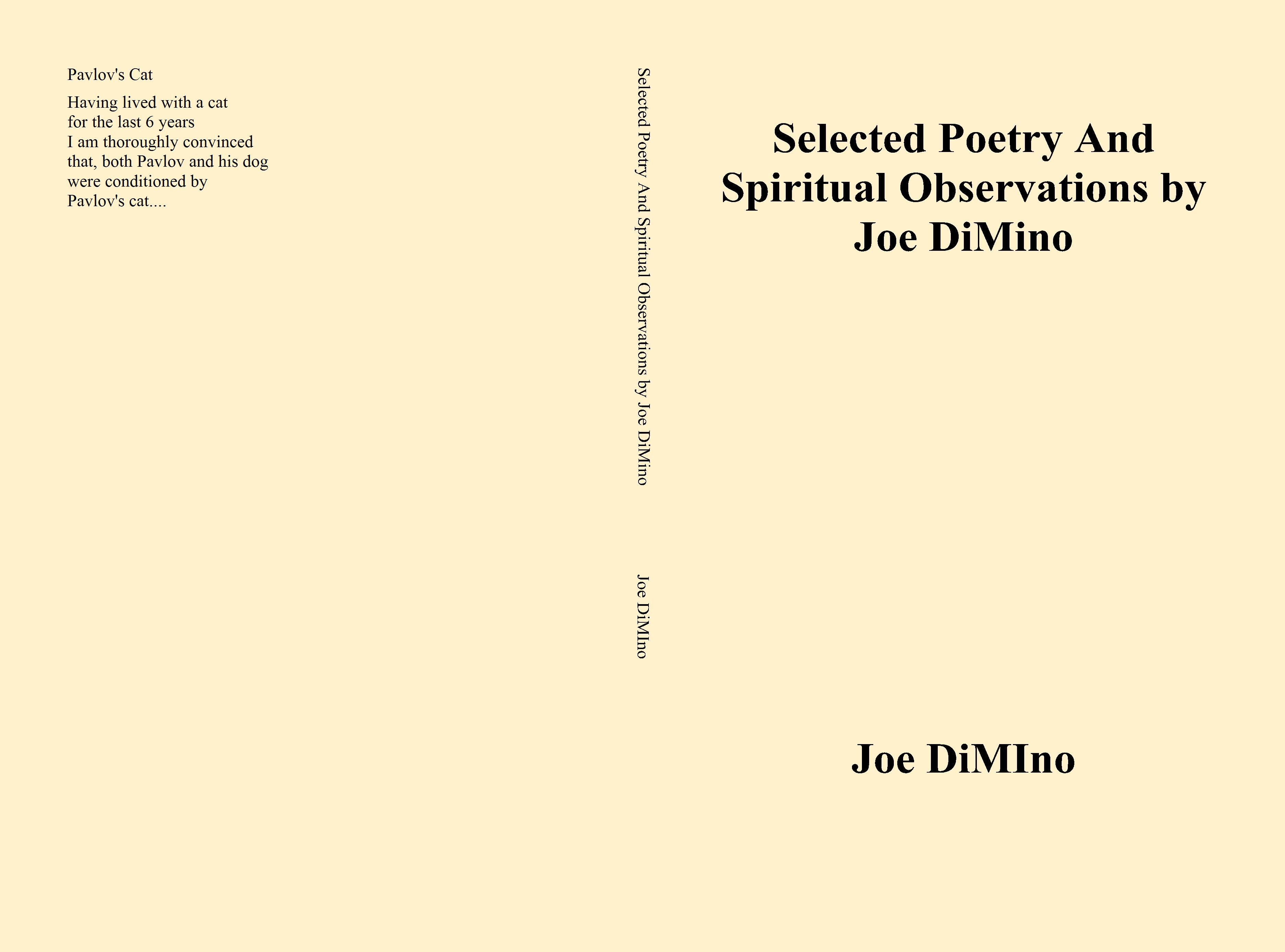 Selected Poetry And Spiritual Observations by Joe DiMino cover image