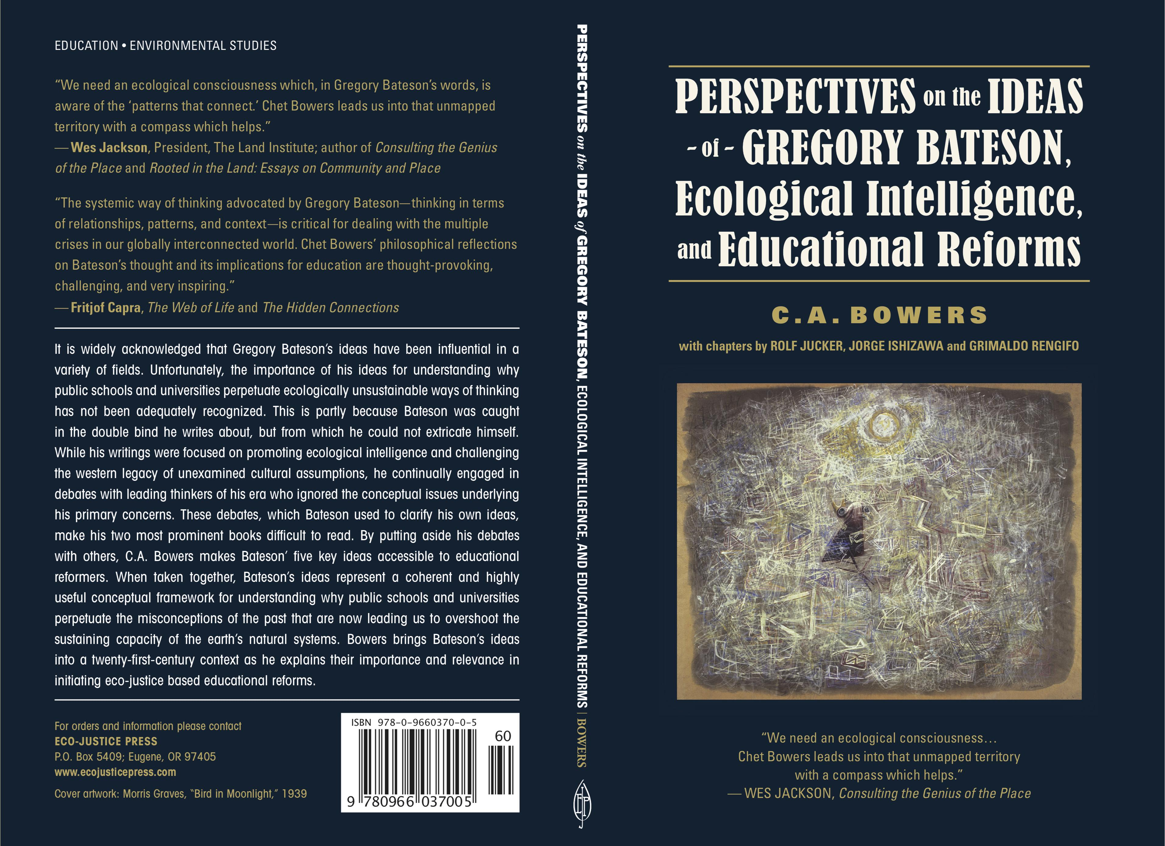 Perspectives on the Ideas of Gregory Bateson, Ecological Intelligence, and Educational Reforms cover image