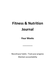 Fitness & Nutrition Journal Ver. 2 cover image