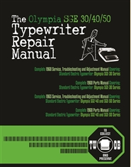 The Olympia SGE 30/40/50 Typewriter Repair Manual cover image