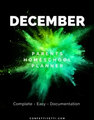December HomeSchool Parents Planner cover image
