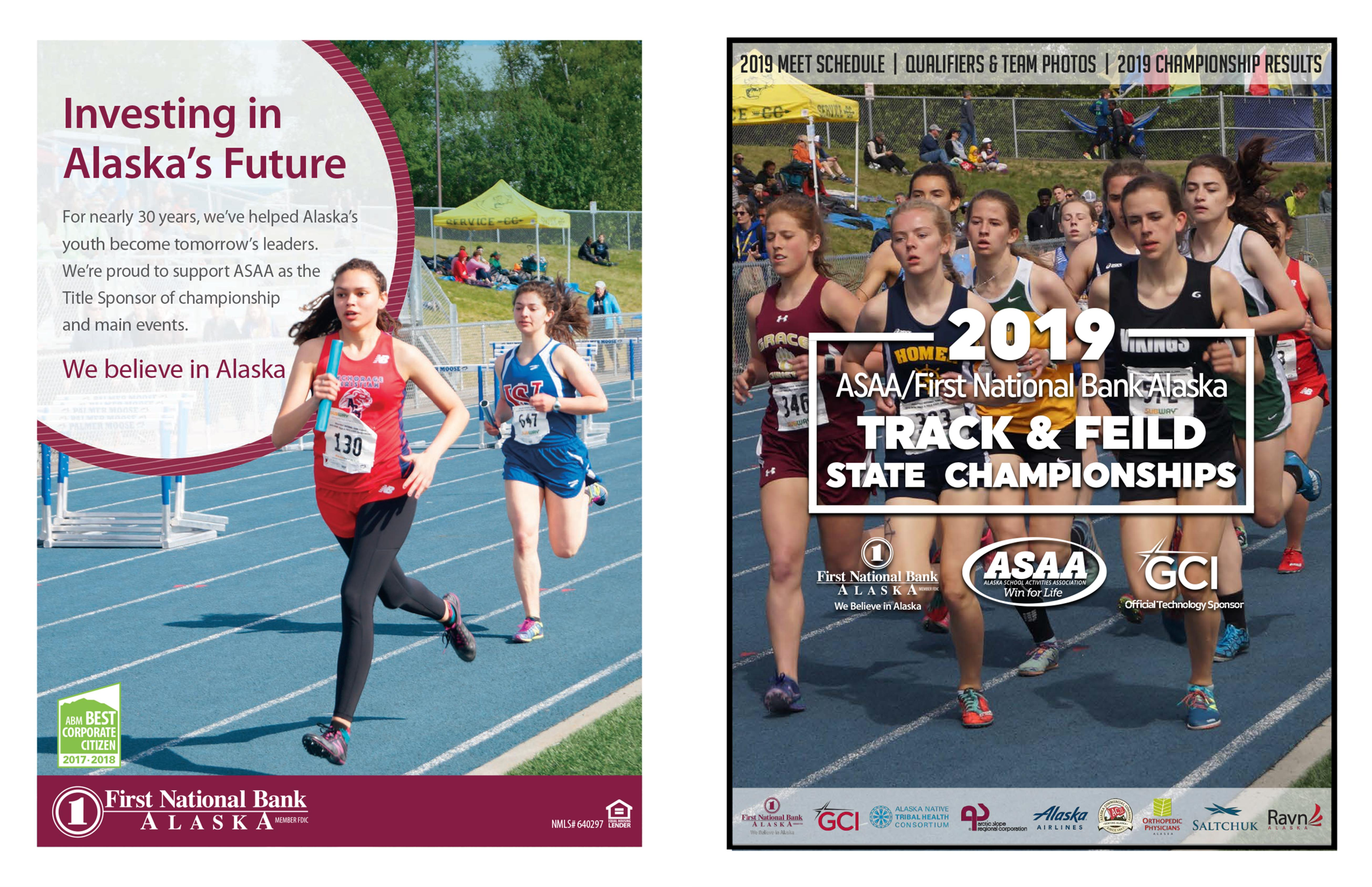 2019 ASAA/First National Bank Alaska Track and Field State Championship Program cover image