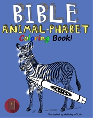 Bible Animal-phabet Coloring Book cover image