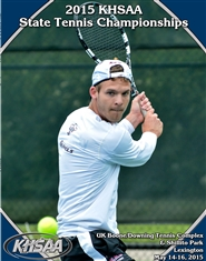 2015 KHSAA Tennis State Championship Program cover image