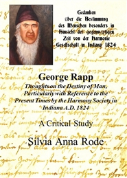 George Rapp: Thoughts on the Destiny of Man: A Critical Study cover image
