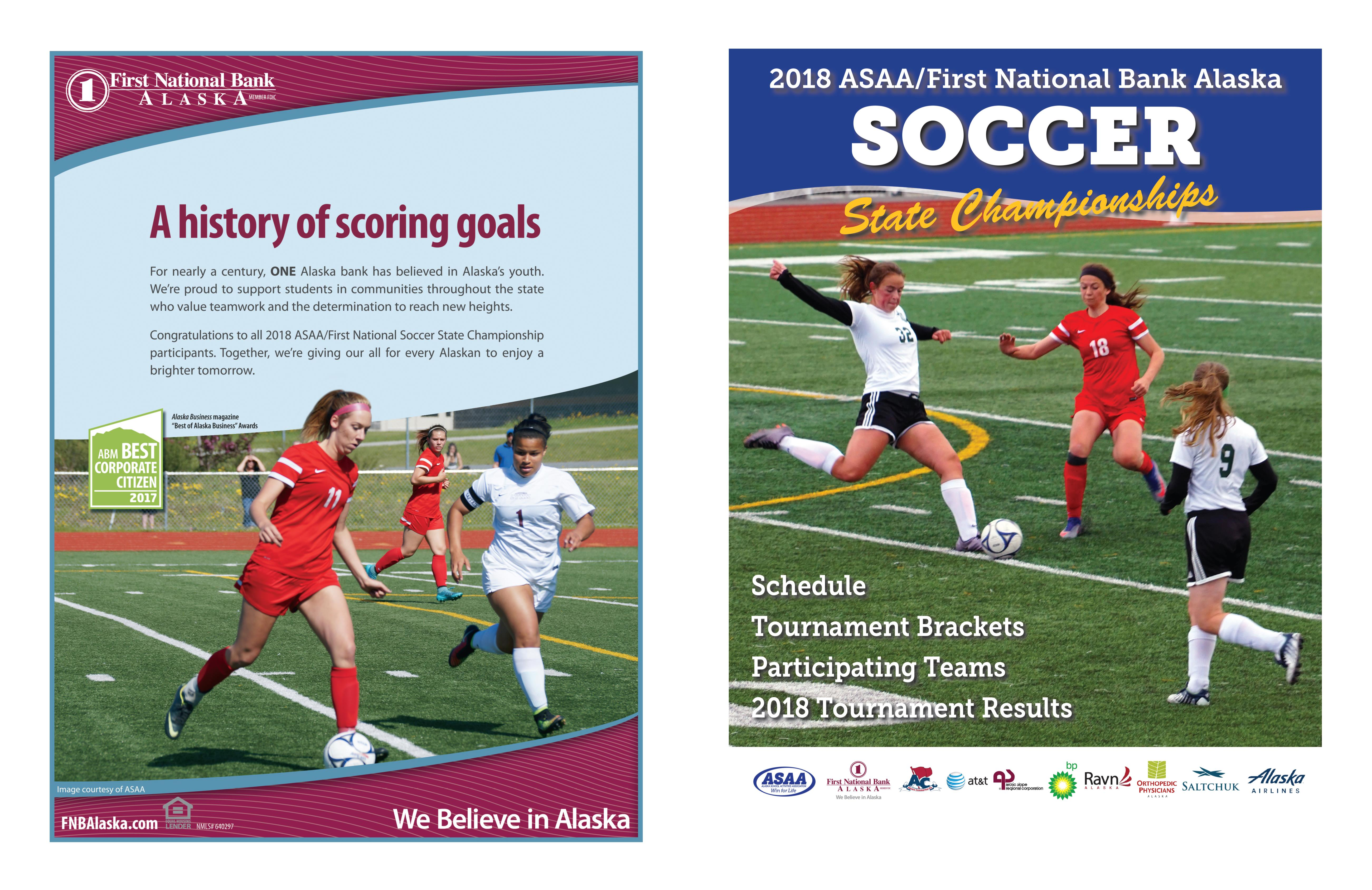 2018 ASAA/First National Bank Alaska Soccer State Championship Program cover image