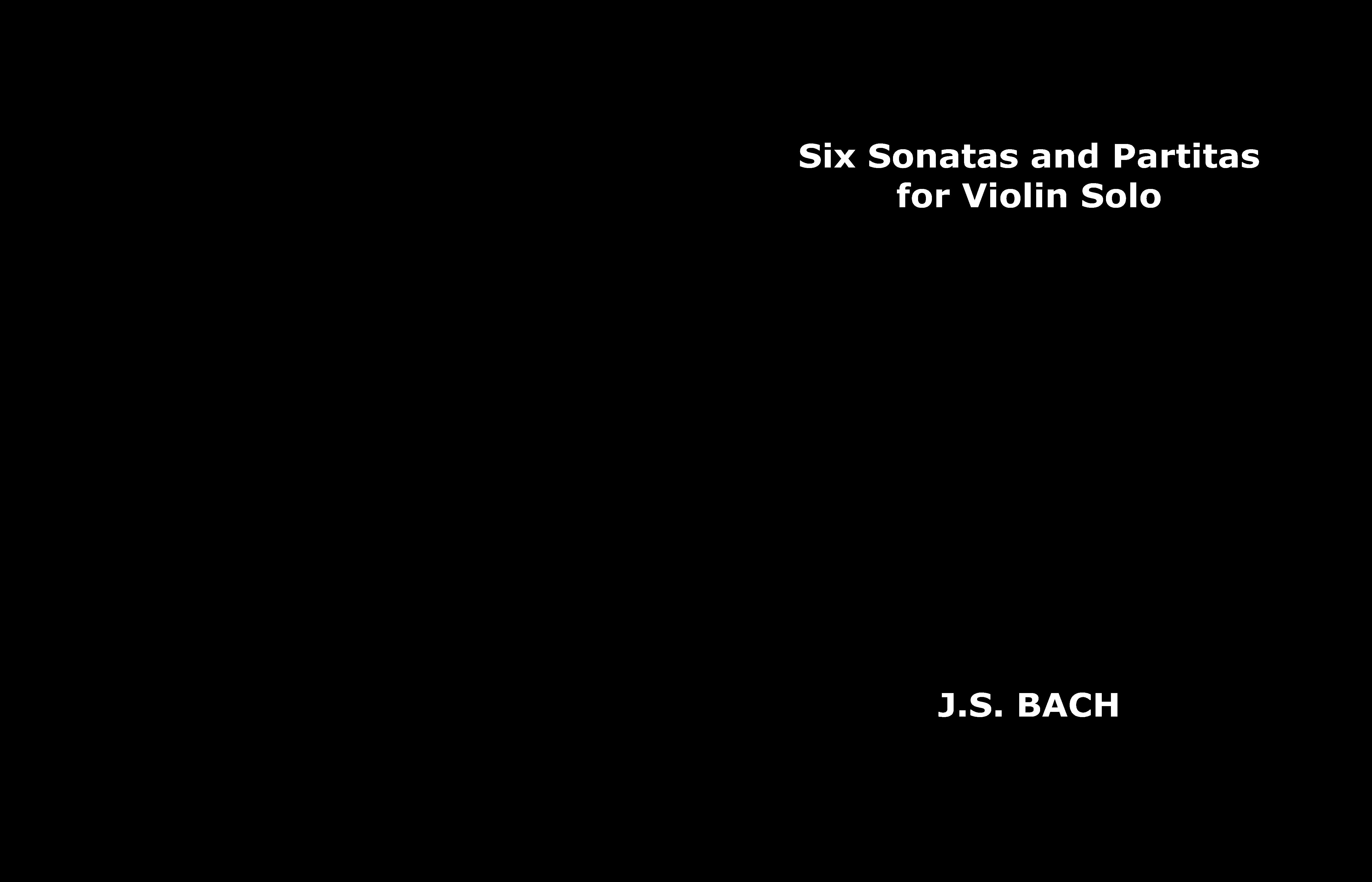 Six Sonatas and Partitas for Violin Solo cover image