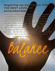"""Regaining my Equilibrium for Acceleration 2016"" Workshop Guide cover image"