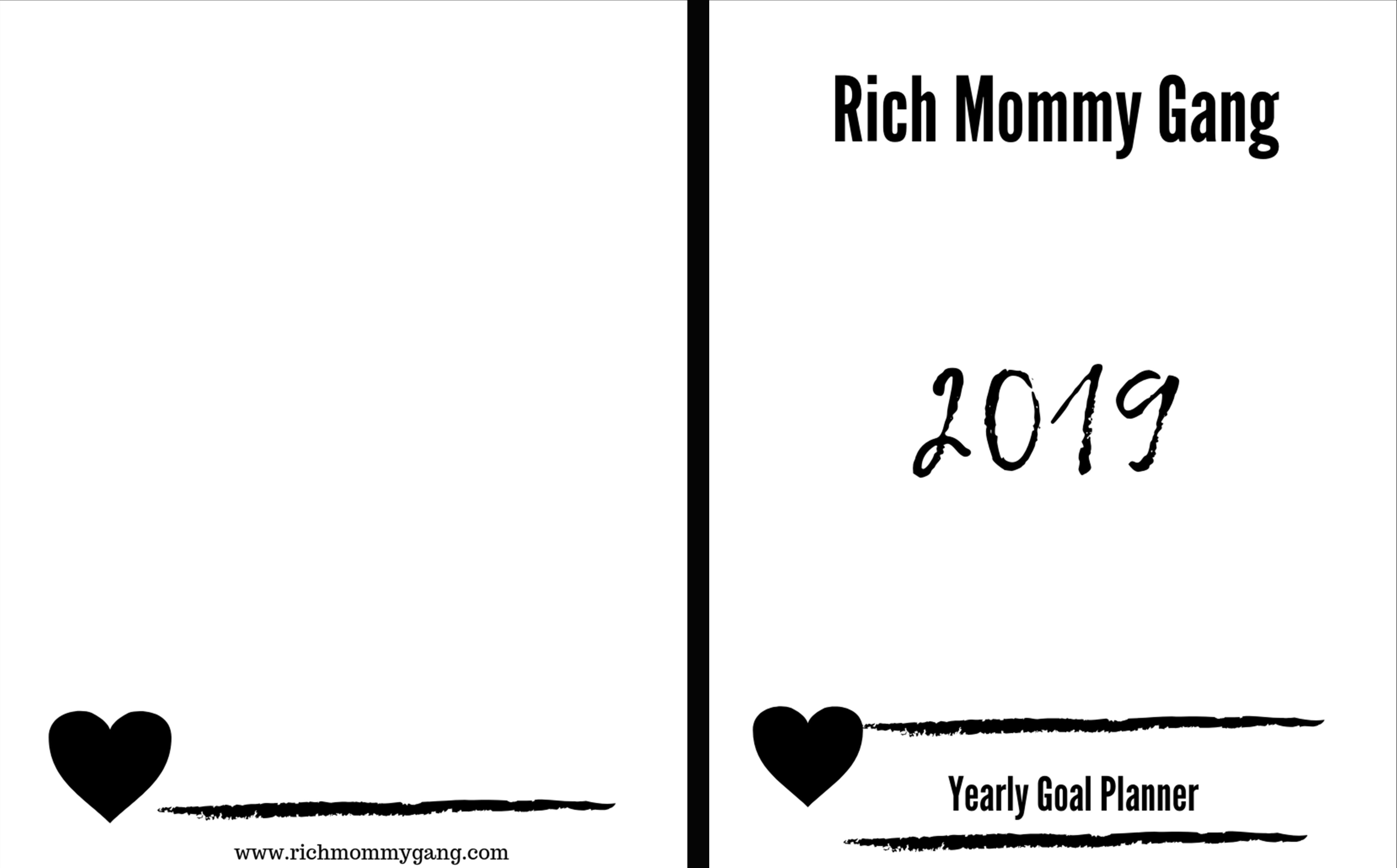 2019 Yearly Goal Planner cover image