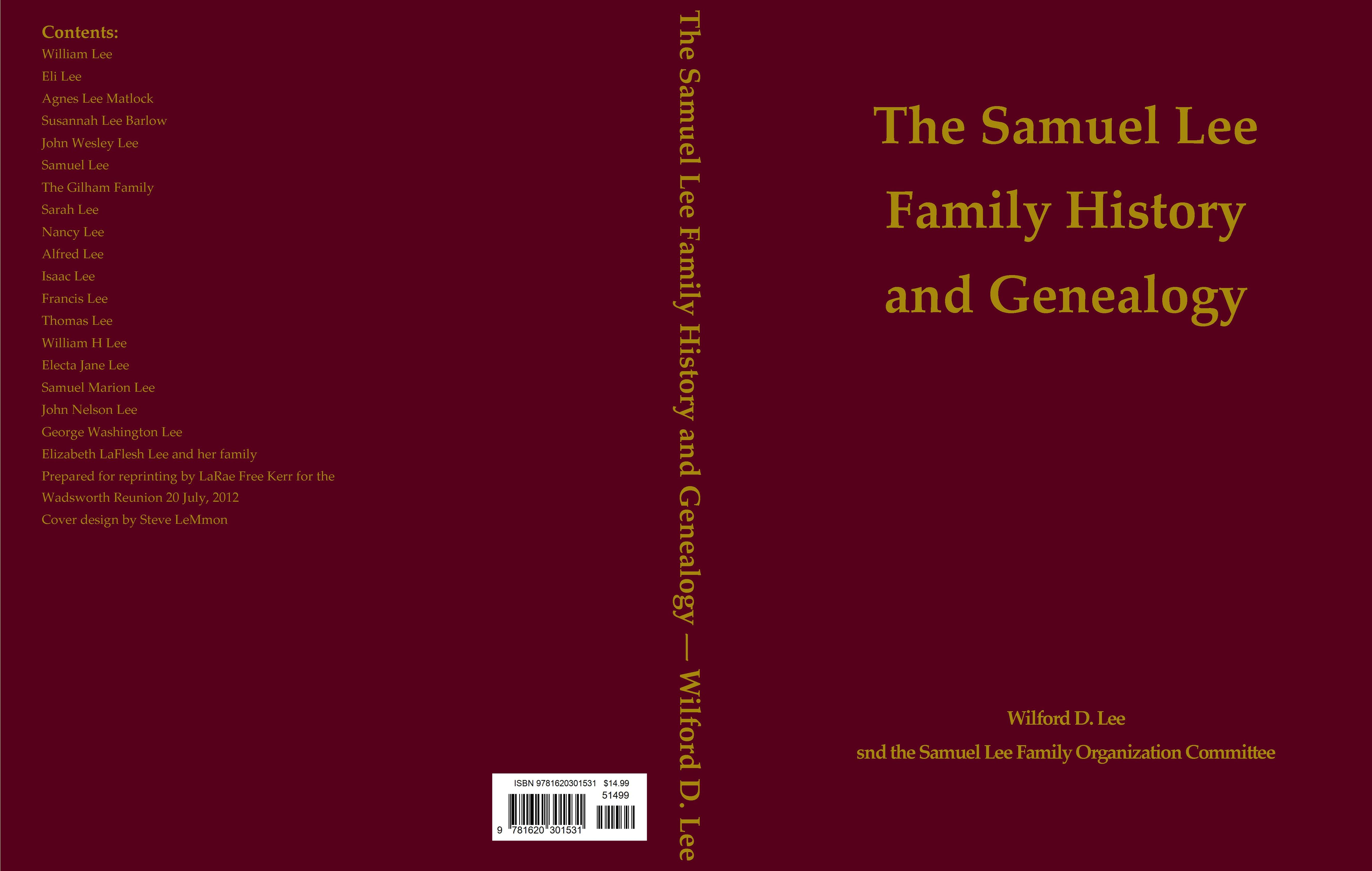 History Book Cover Ideas ~ The samuel lee family history and genealogy by larae kerr