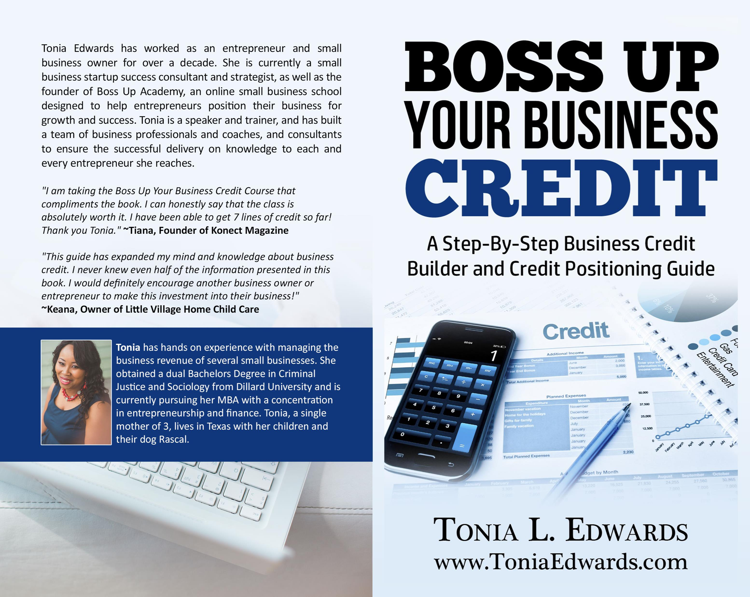 boss up your business credit by tonia edwards    24 95