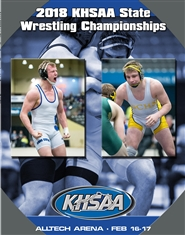 2018 KHSAA Wrestling State Championship Program (B&W) cover image