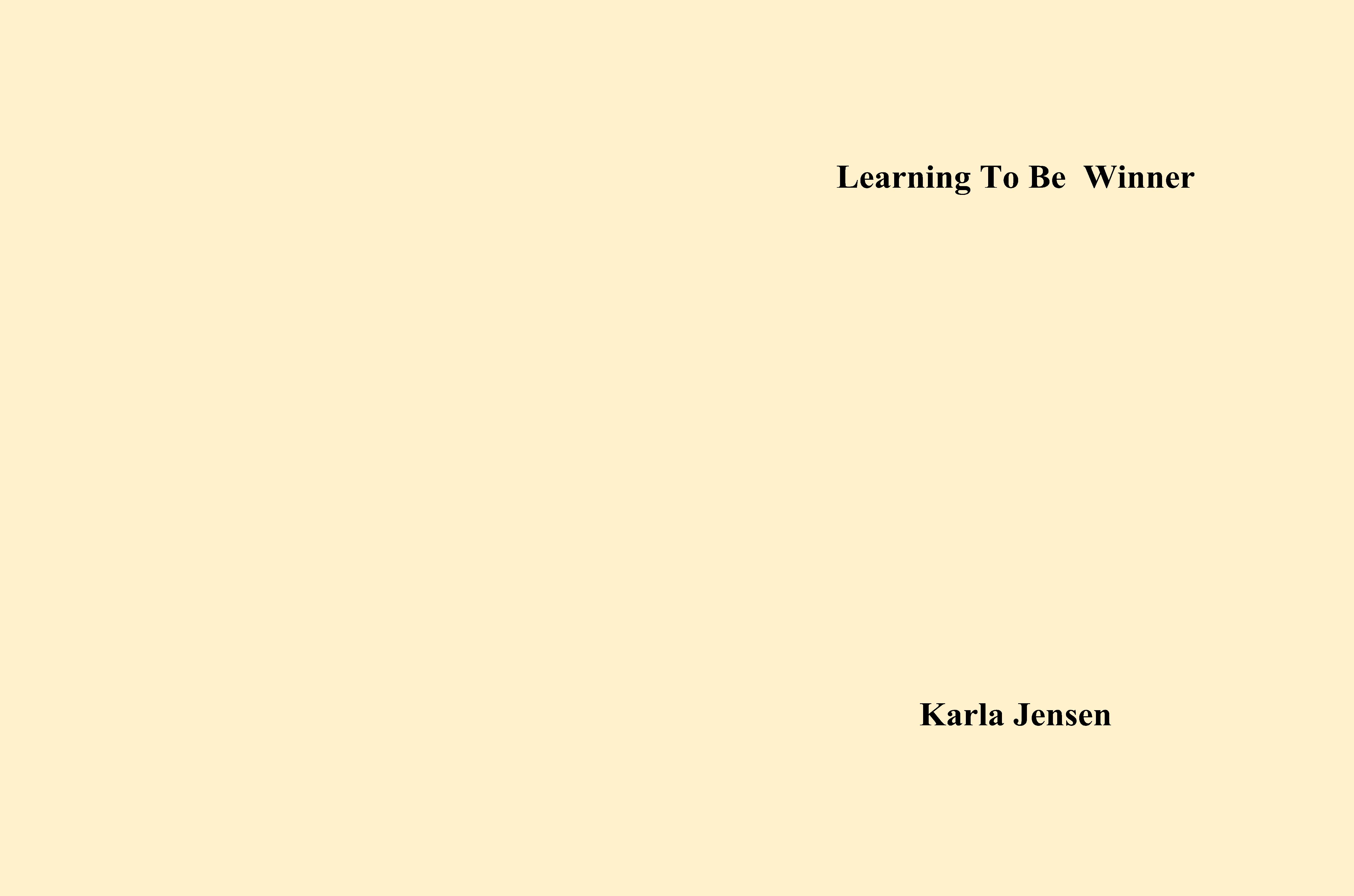 Learning To Be Winner cover image