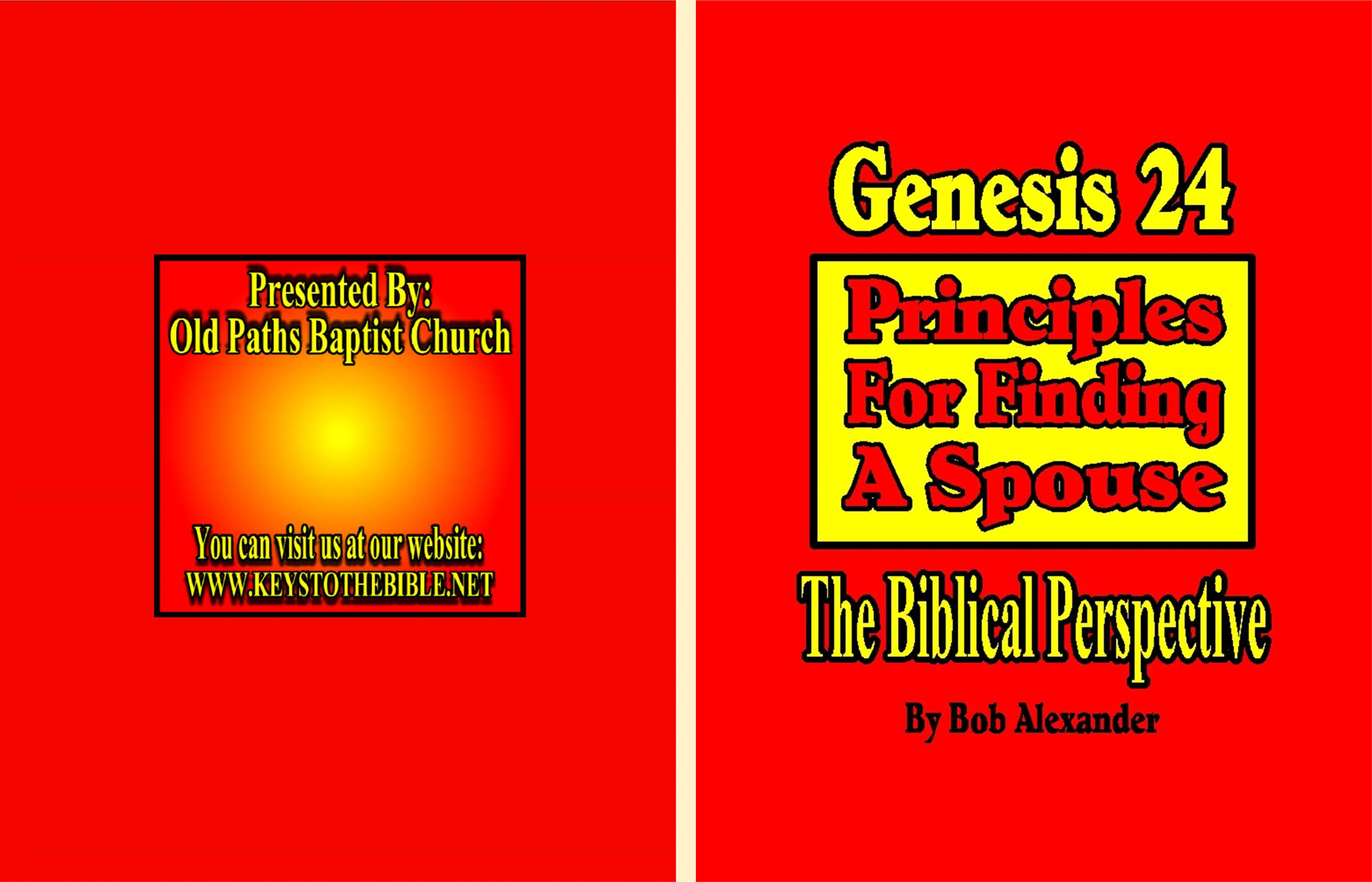 Genesis 24 (The Model for Finding a Spouse) cover image