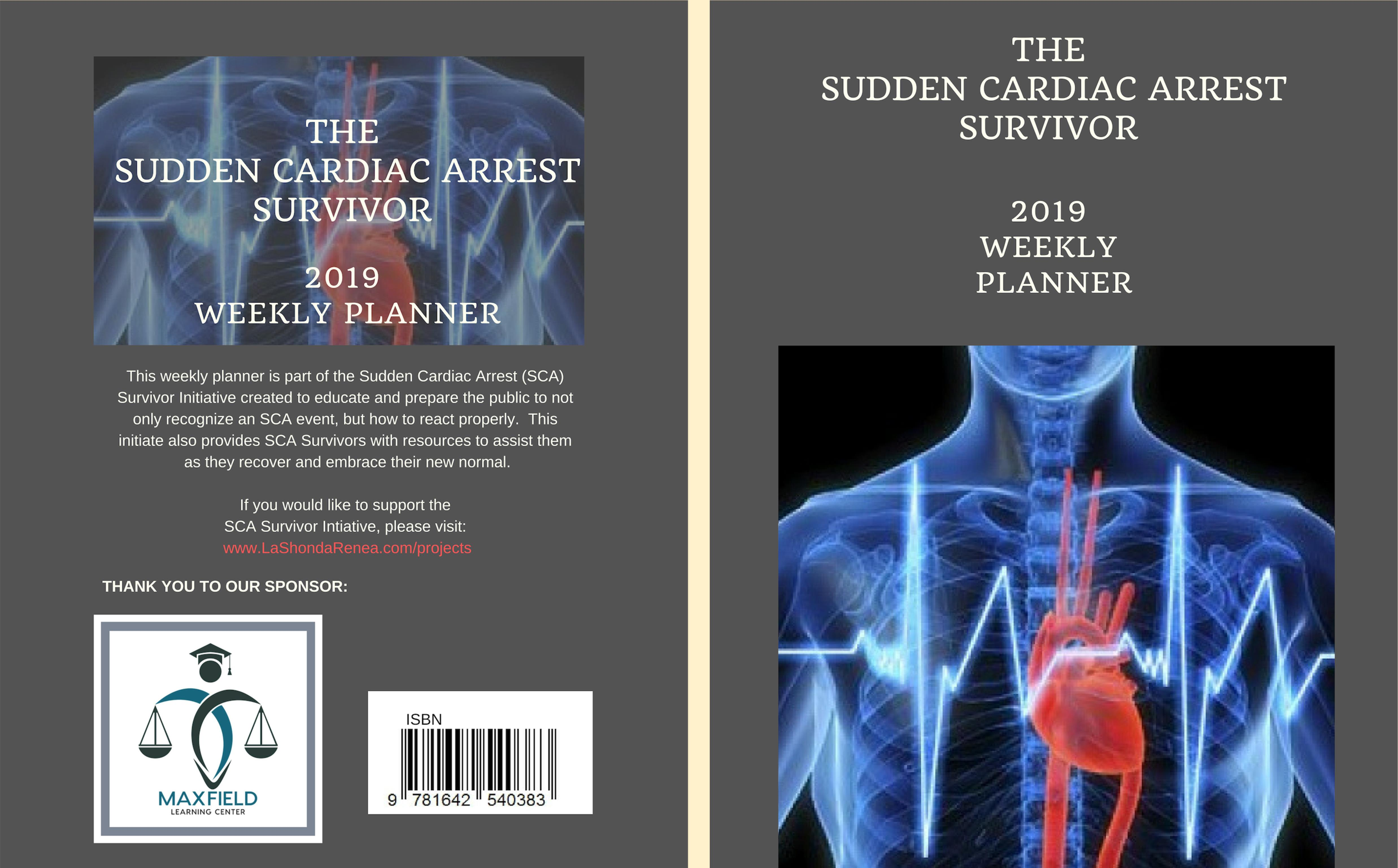 The Sudden Cardiac Arrest Survivor 2019 Weekly Planner cover image