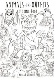 Animals in Outfits Coloring Book cover image