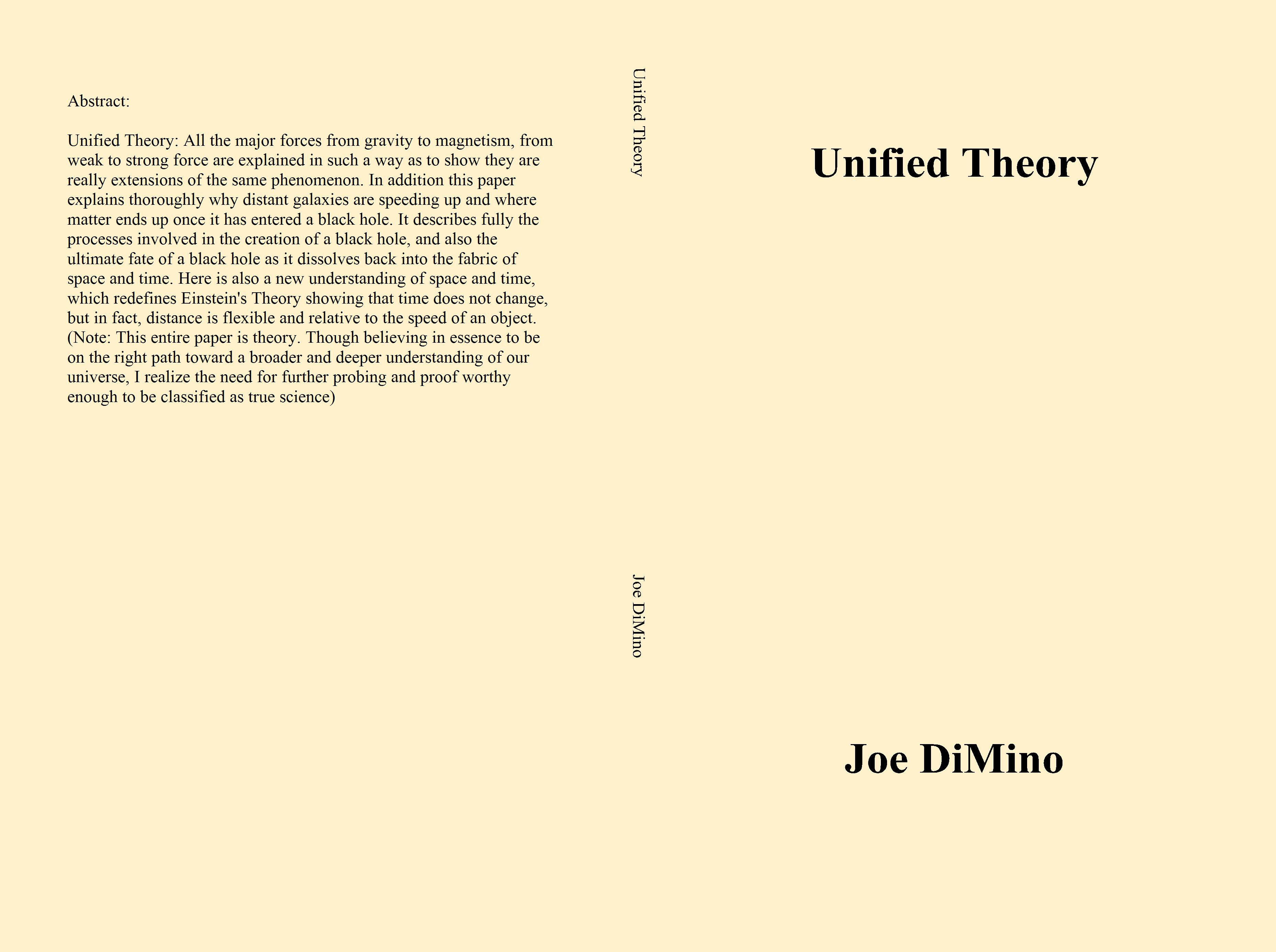 Unified Theory cover image