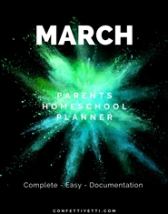 March HomeSchool Parents Planner cover image