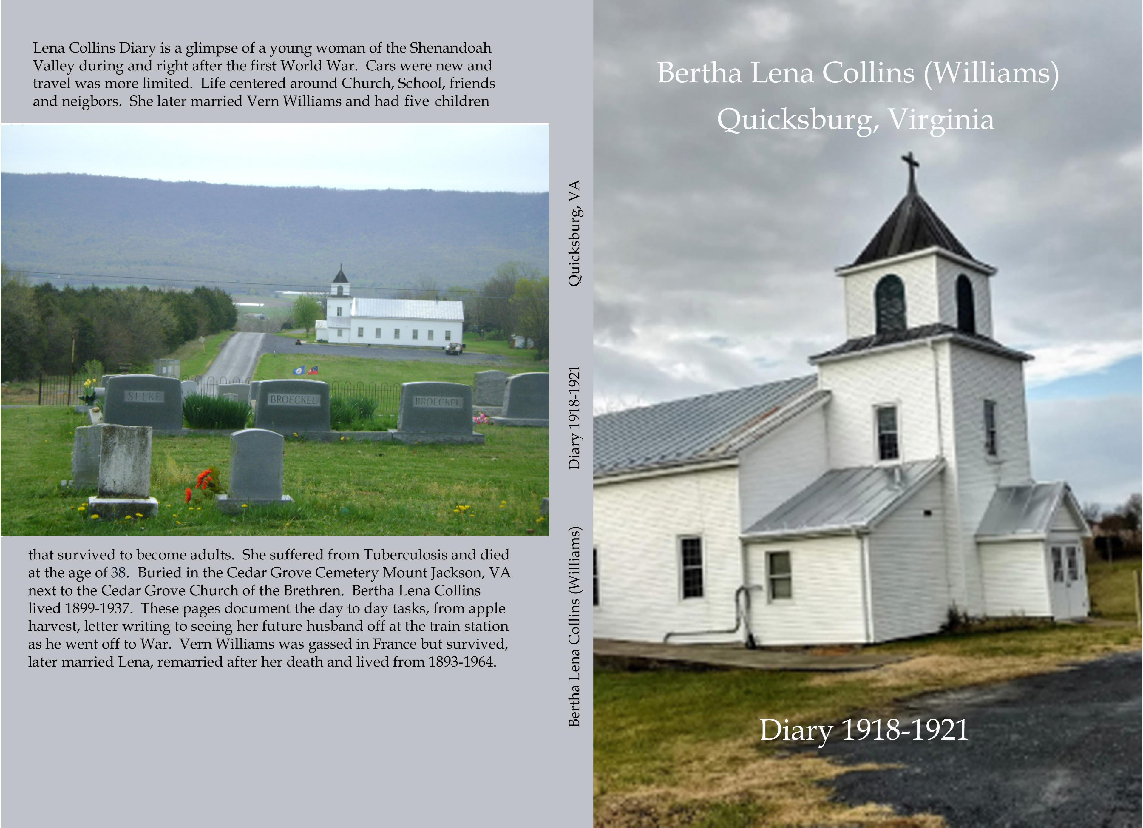 Bertha Lena Collins Williams Diary cover image