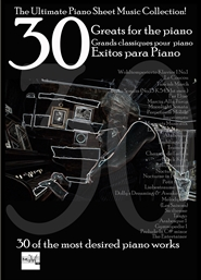 30 Greats for the Piano Grands classiques pour piano exitos para piano cover image