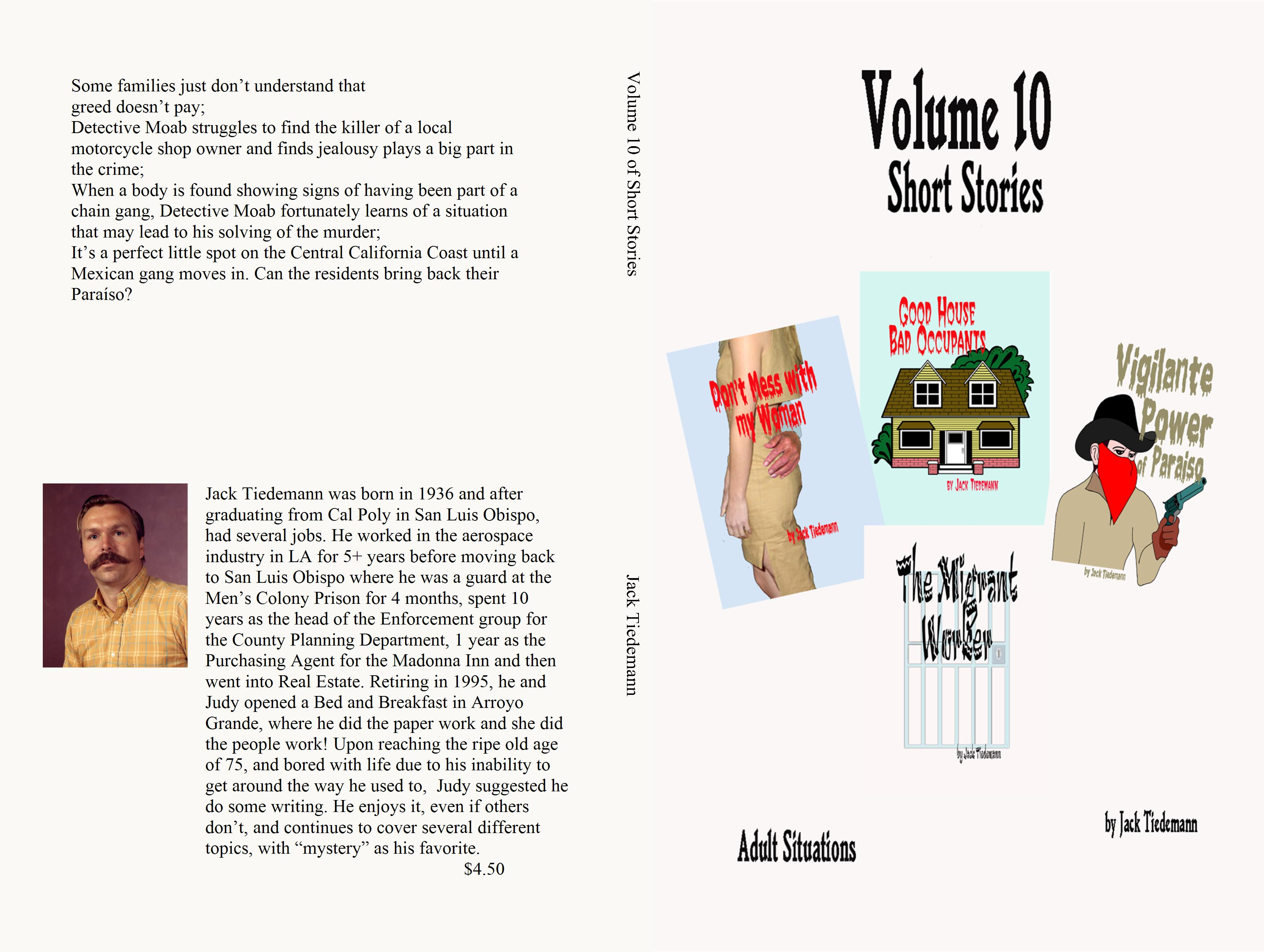 Volume 10 of Short Stories by Jack Tiedemann cover image