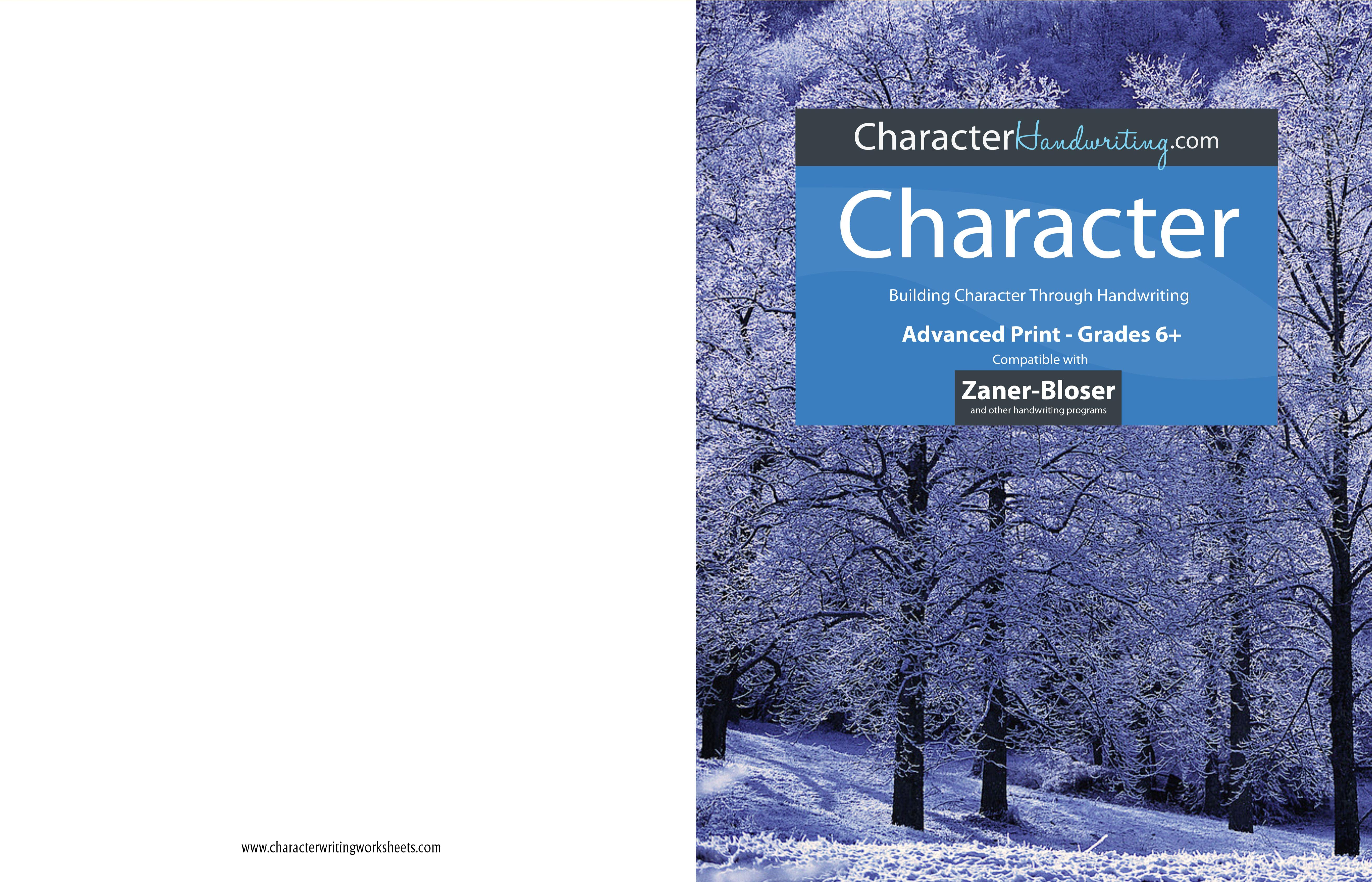Character Zaner-Bloser - Advanced Print cover image