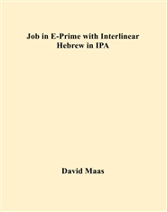 Job in E-Prime with Interlinear Hebrew in IPA cover image