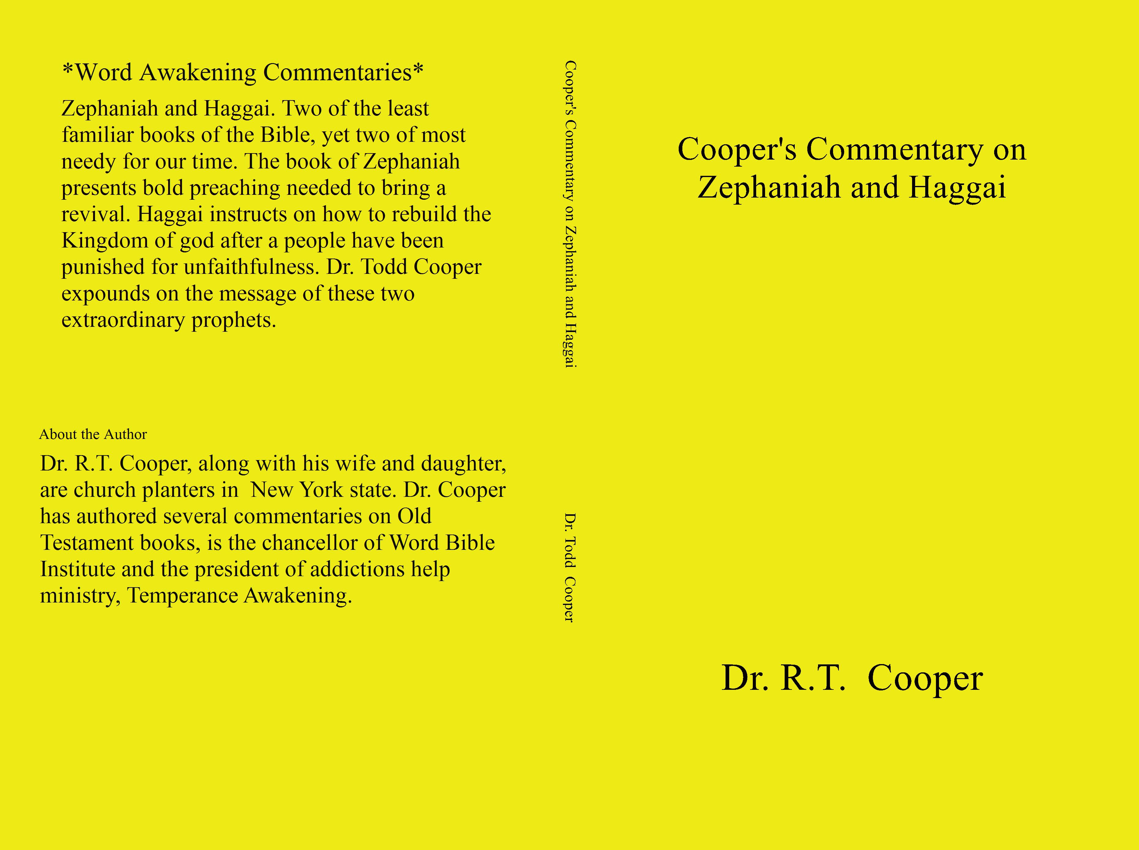 Commentary What To Consider When >> Cooper S Commentary On Zephaniah And Haggai By Dr Todd Cooper