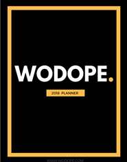 WODOPE PLANNER 2018 cover image